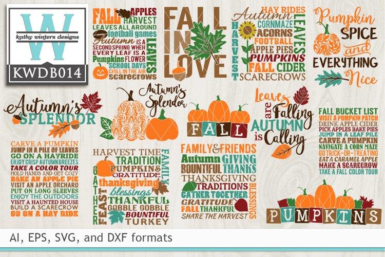 BUNDLED Autumn Cutting Files KWDB014