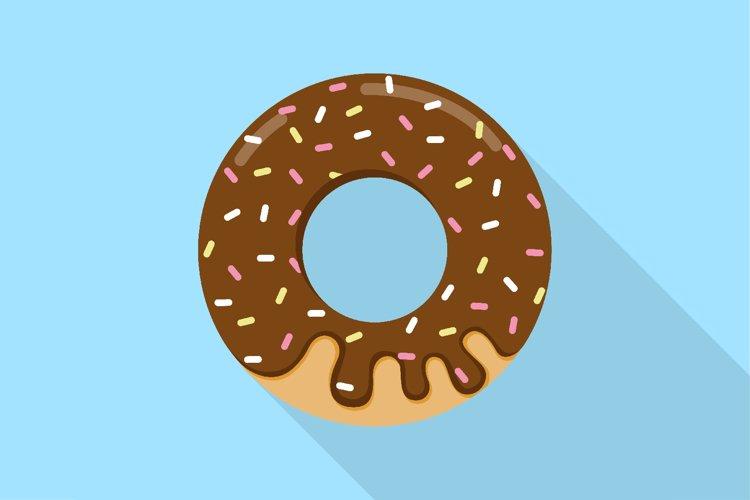 Chocolate donuts modern flat design. Vector Illustration