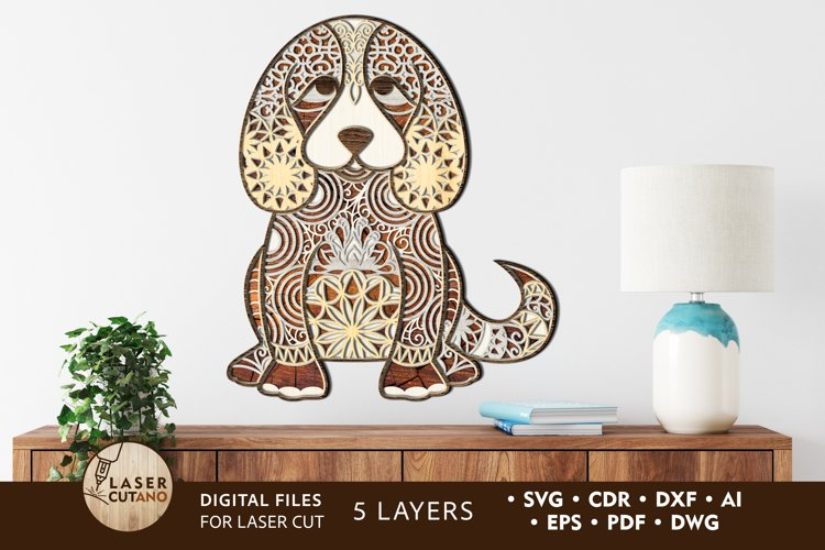 Multilayer Cut File PUPPY for Laser Cut, Cricut, CNC Machine