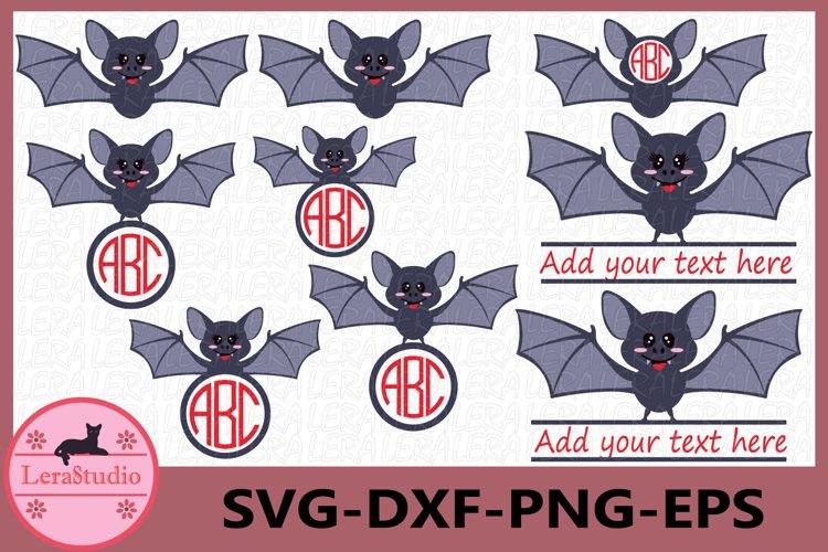 Bat svg, Bat Monogram SVG, Halloween svg File, Fall svg example image 1