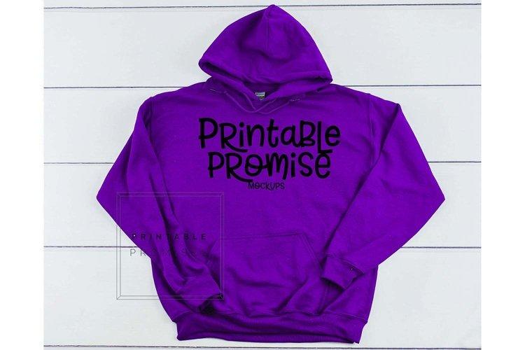 Gildan G185 Purple Hoodie Mockup Purple Hoodie Mockup Shirt example image 1