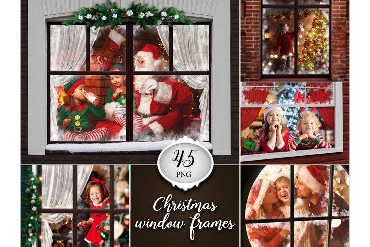 45 Christmas window frames example image 1