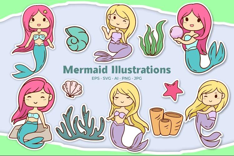 Mermaid Illustrations example image 1
