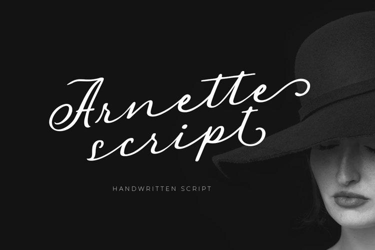 Arnette - Handwritten Script example image 1