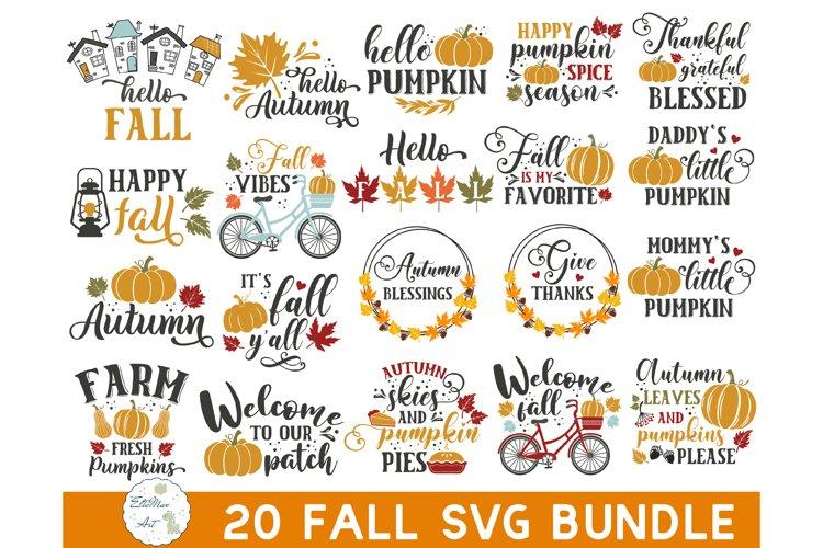 Autumn SVG Bundle, Fall SVG Bundle, Fall Pumpkin SVG Bundle example image 1