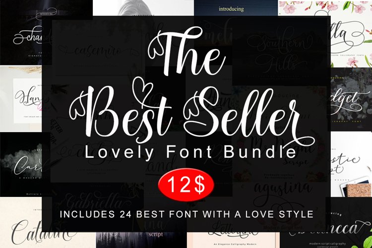 Lovely Font Bundle example image 1