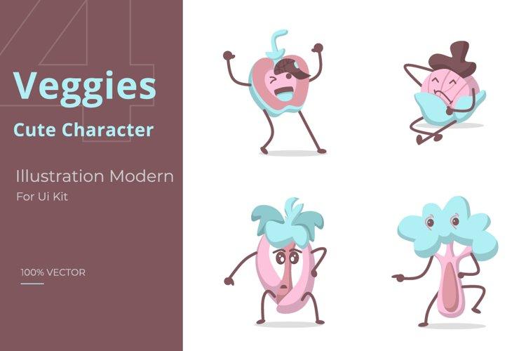 Veggies set Illustration example image 1