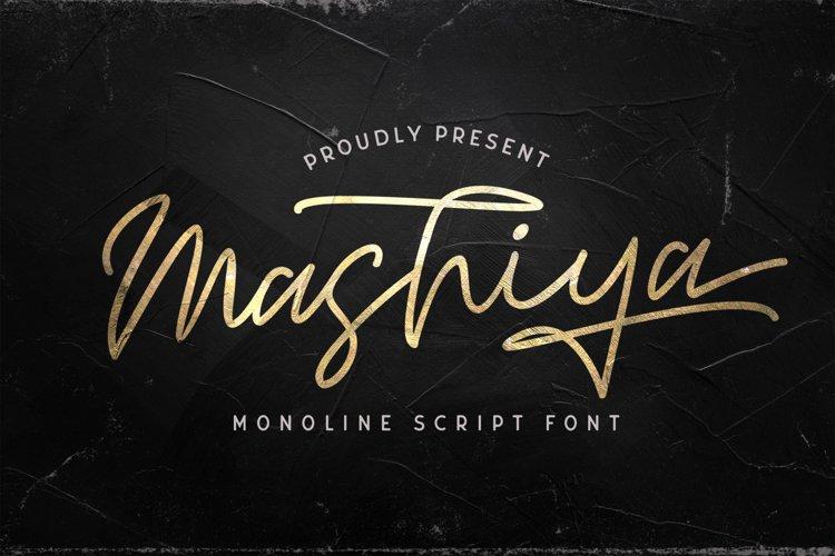 Mashiya - Monoline Script Font example image 1