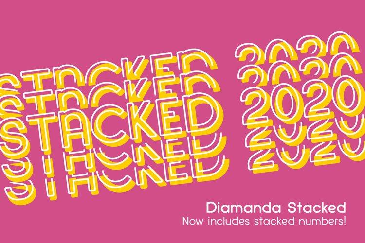 Diamanda Stacked - Retro Font example image 1
