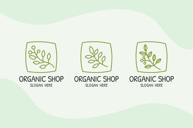 Organic Shop Logo Templates example image 1