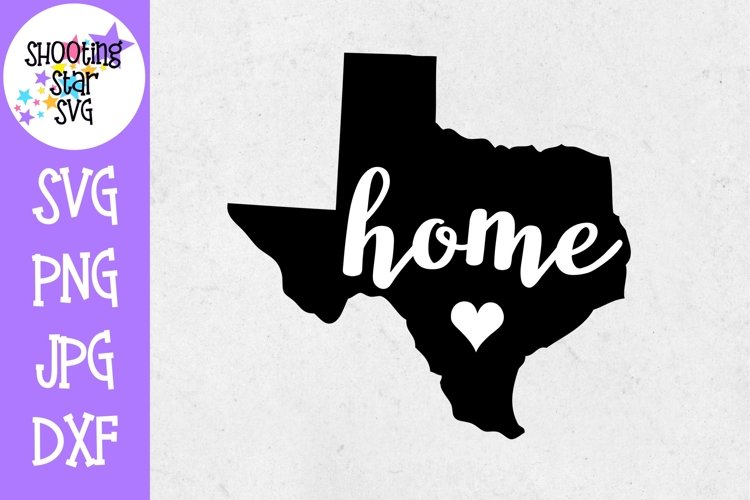Texas Home State with Heart - 50 States SVG example image 1
