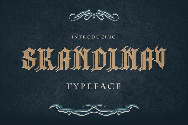 Skandinav Typeface with free illustrator example image 1