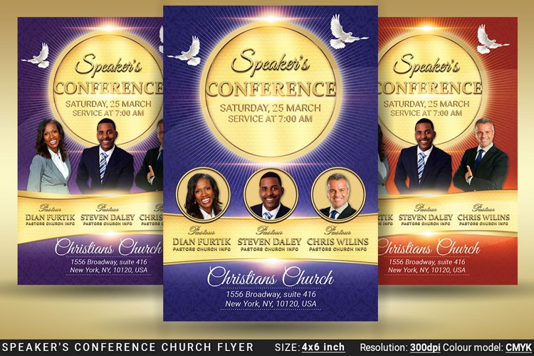Speaker's Conference Church Flyer example image 1