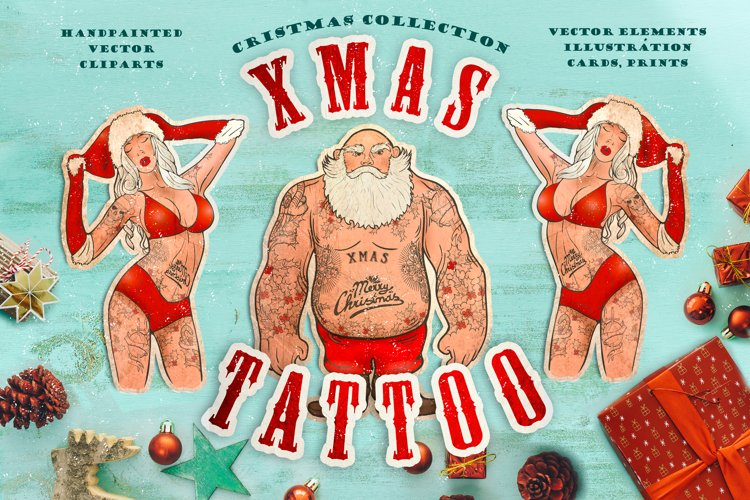Cristmas collection: Xmas tattoo example image 1