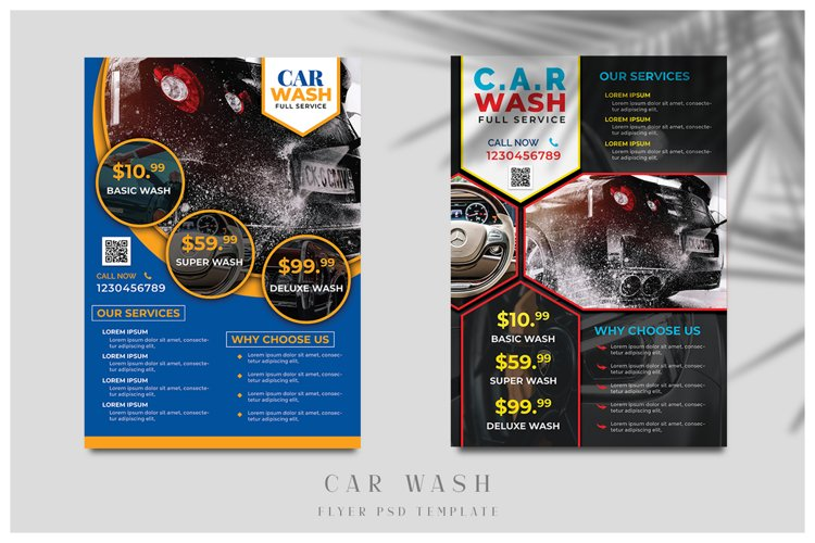 Car Wash Flyer Templates example image 1