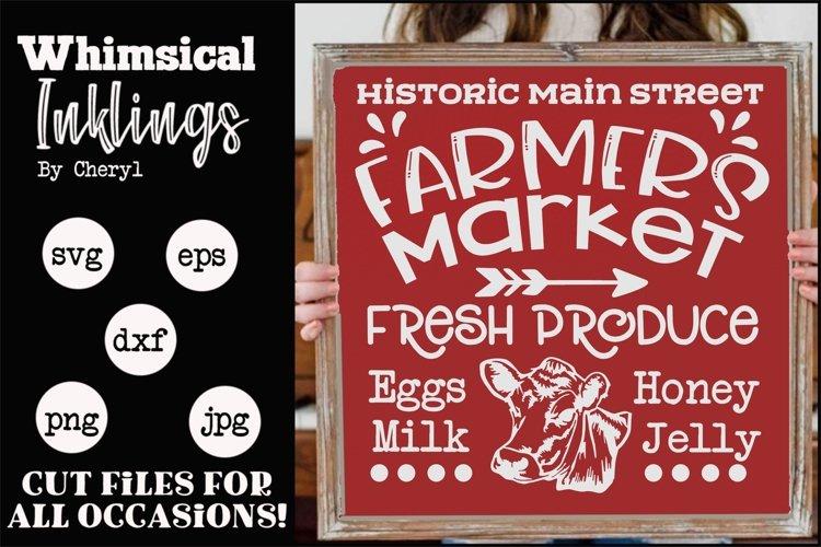 Historic Main Street Farmers Market SVG example image 1
