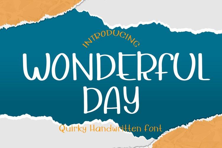 Wonderful Day example image 1