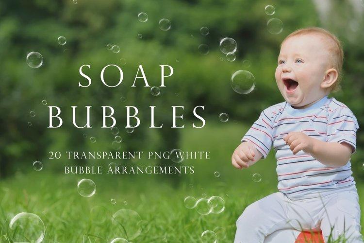 White soap bubble overlays example image 1