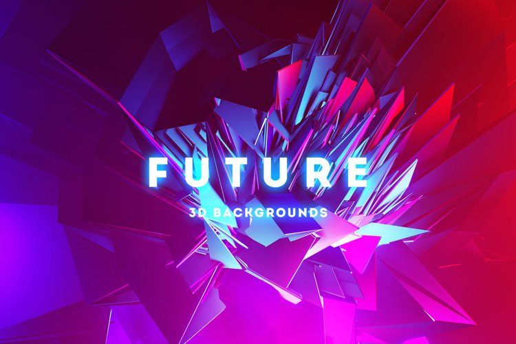 Future - 20 Abstract 3D Backgrounds example image 1