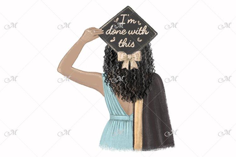 Black Girl Graduated, hand drawn illustration