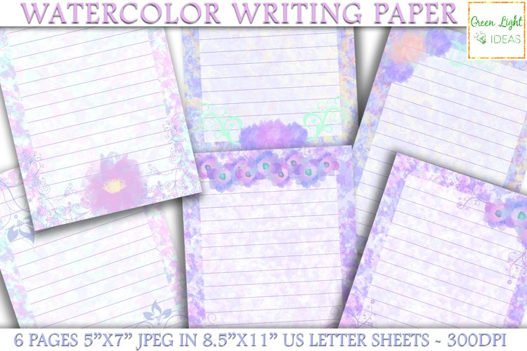 Watercolor Writing Papers, Watercolor Journal Pages
