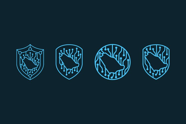 Technology security bundle logo template example image 1