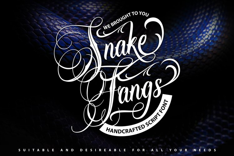 SnakeFangs | Handcrafted Script Font example image 1