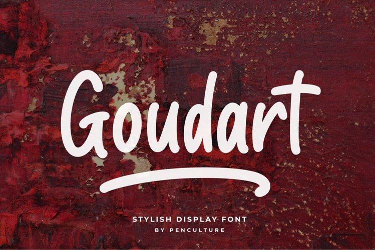 Goudart - Stylish Display Font example image 1