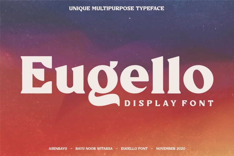 Eugello - Unique Display Font example image 1