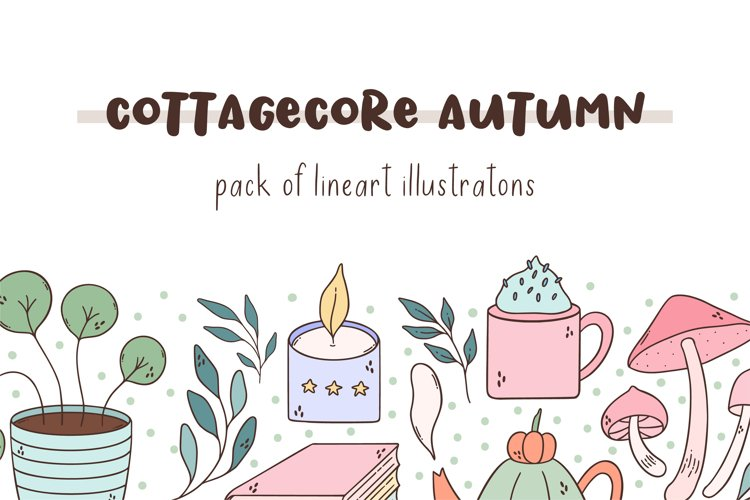 Cottagecore fall illustration pack.