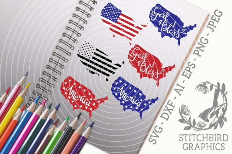 America Bundle SVG, Silhouette Studio, Cricut, Dxf, Ai, Jpeg example image 1