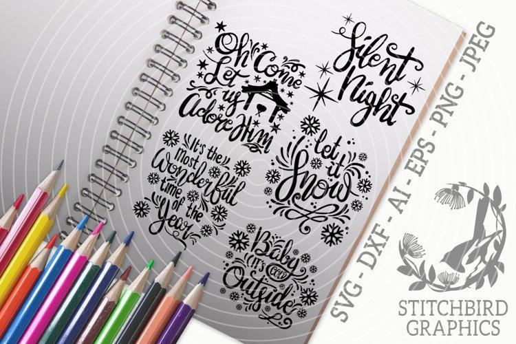 Christmas Quotes 1 Bundle SVG, Silhouette Studio, Cricut