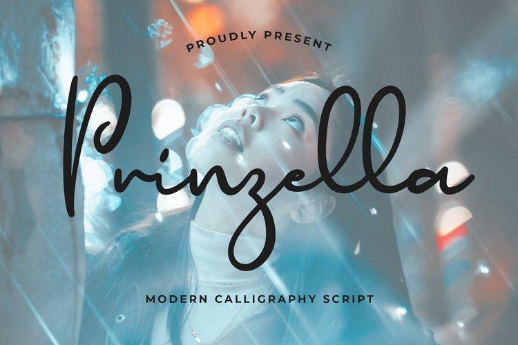 Prinzella Beautiful Calligraphy Font example image 1