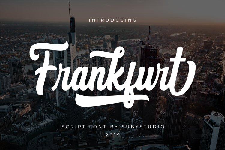 Frankfurt Script Font example image 1