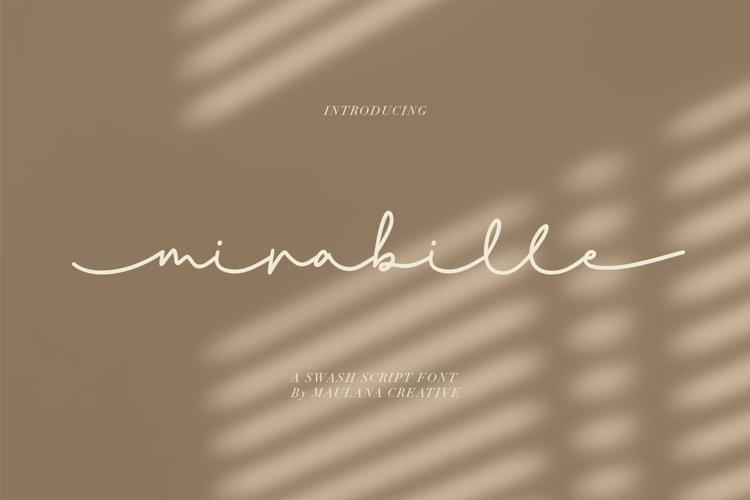 Mirabille Swash Script example image 1