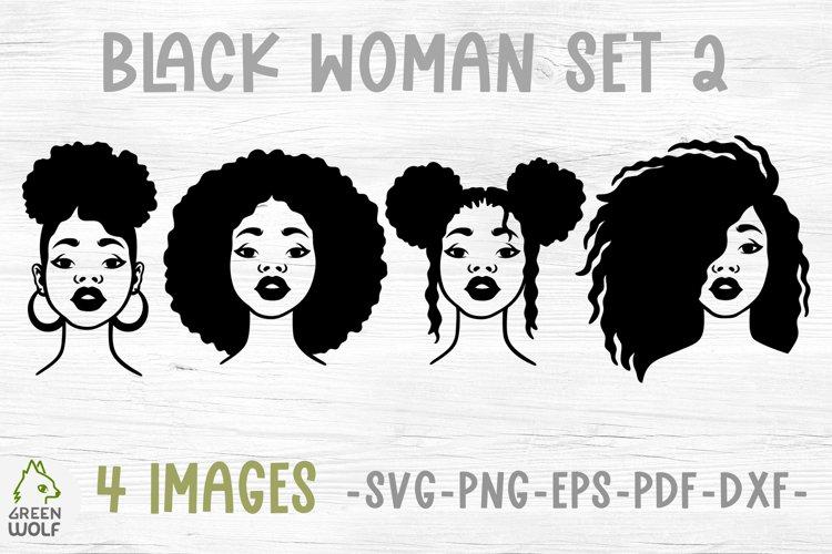Black woman svg Juneteenth svg Afro women svg Afro puff svg