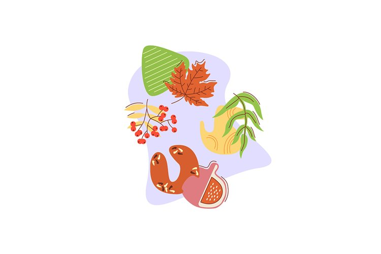 Reaping autumn harvest flat vector concept illustration example image 1