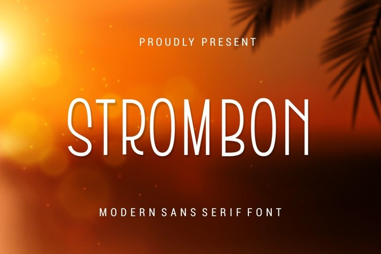 Strombon - Modern Sans Serif Font