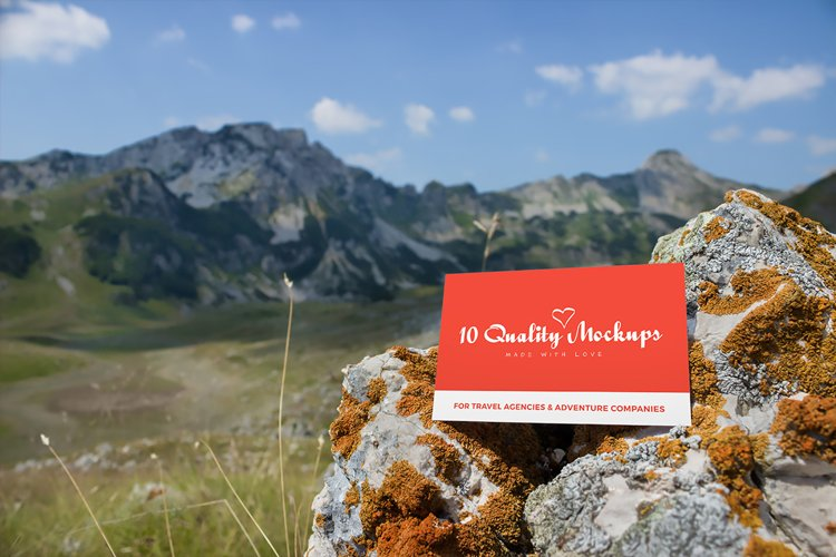 Business cards mockup 9 | Travel Mockup Collection Set 2 example image 1