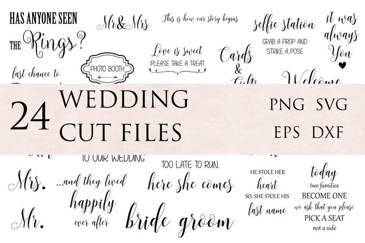Wedding SVG Cut Files Bundle
