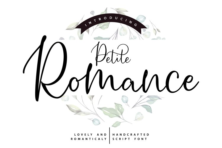 Petite Romance | Handcrafted Script Font example image 1