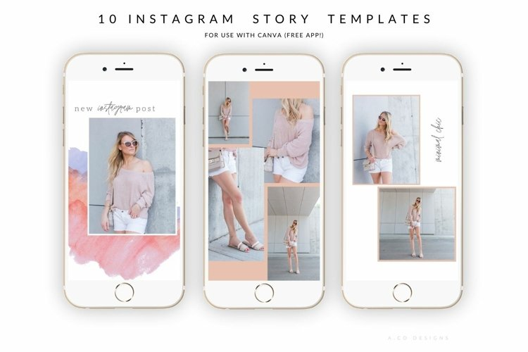 10 Instagram Story Templates for Canva - blogger