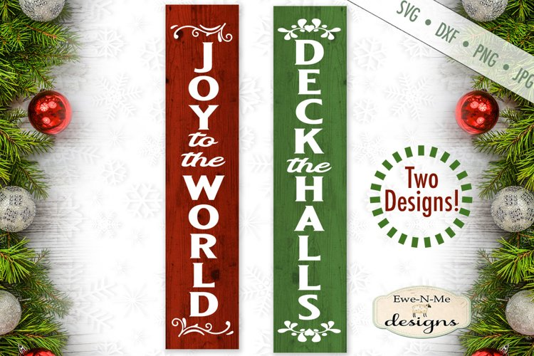 Deck The Halls - Joy To The World - Vertical SVG example image 1