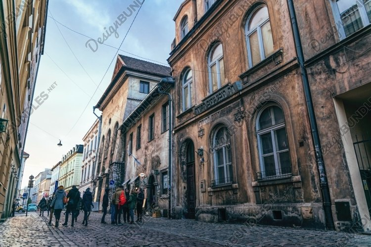Old synagogue in the Jewish quarter of Kazimierz in Krakow example image 1