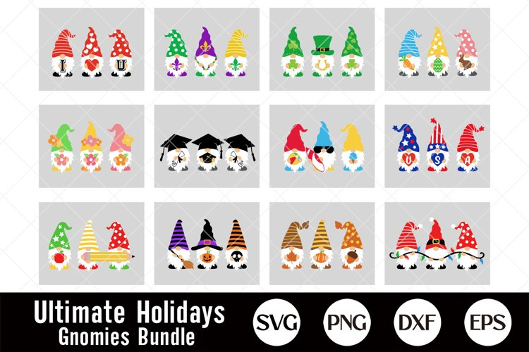 Holidays Gnomes Bundle, Gnome Svg, Valentines, Easter Svg