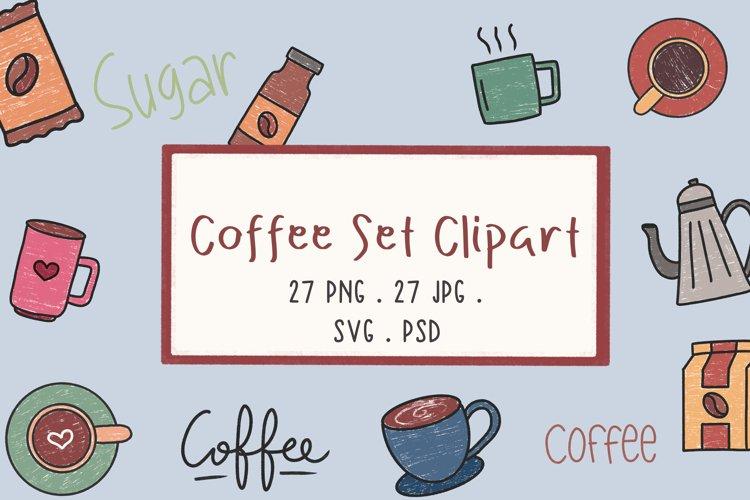 Coffee Set Clipart