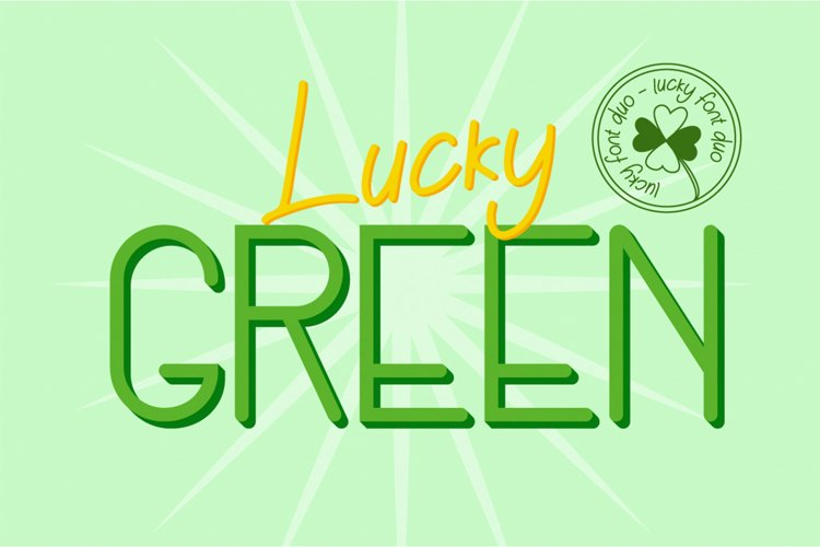 Lucky Green Font Duo example image 1
