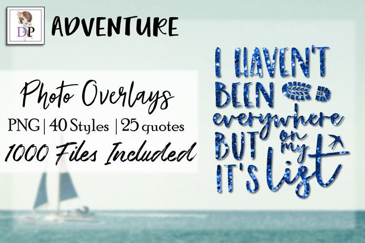 Adventure Bundle Photo Overlays Art Social Media Photobook example image 1