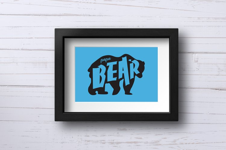 Father's Day SVG Cut Files - Papa Bear example 1