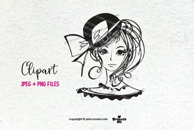 women clipart, lady clipart, doodle style